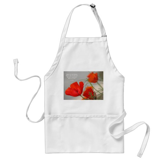Believe Poem Red Poppy Adult Apron