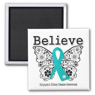 Believe Polycystic Kidney Disease Fridge Magnets