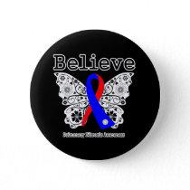 Believe Pulmonary Fibrosis Awareness Pinback Button