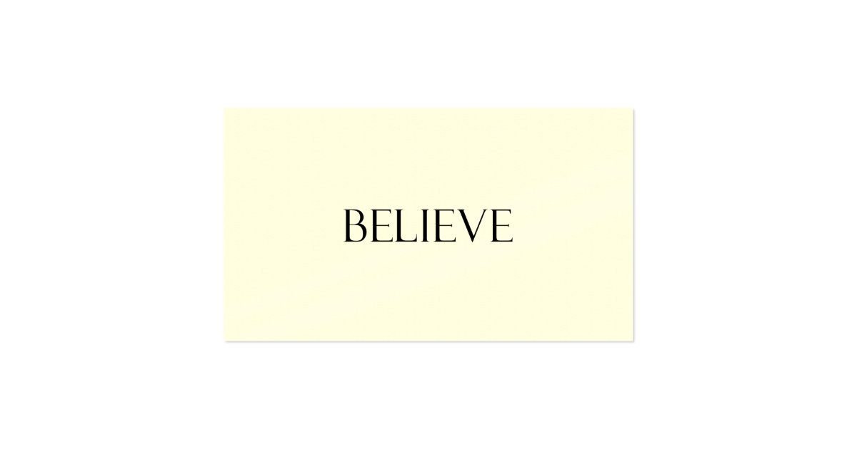 believe quotes inspirational faith quote business card