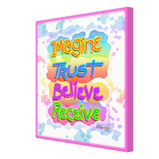 Believe Receive INSPIRATIONAL Gallery Wrapped Canv Canvas Print