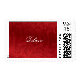 Believe, Red Christmas Stamp