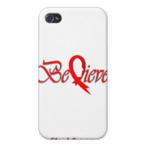 """""""Believe"""" Red Ribbon Collection iPhone 4/4S Cover"""
