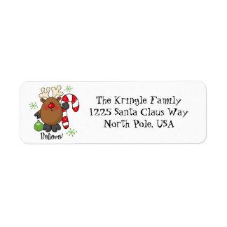 Believe Reindeer Address Label