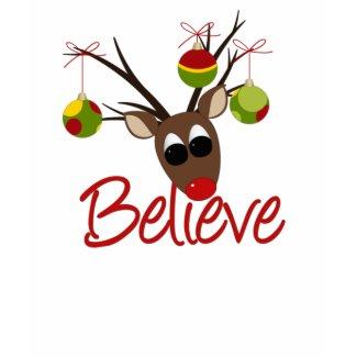 Believe Reindeer Man T-shirt