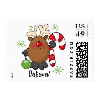 Believe Reindeer Postage