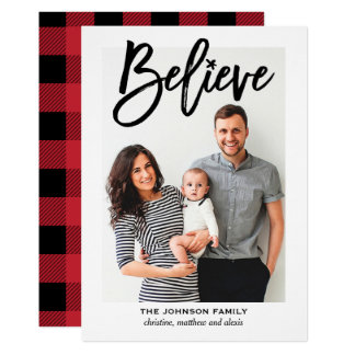 Believe Religious Christmas Holiday Photo Card