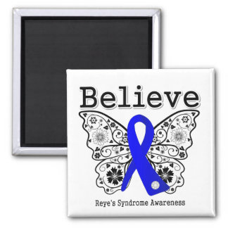 Believe Reye's Syndrome 2 Inch Square Magnet