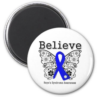 Believe Reye's Syndrome 2 Inch Round Magnet