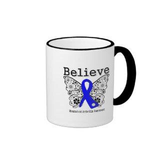 Believe Rheumatoid Arthritis Ringer Coffee Mug