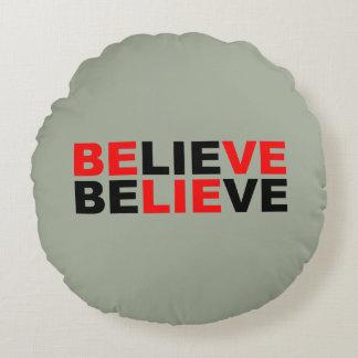 believe round pillow
