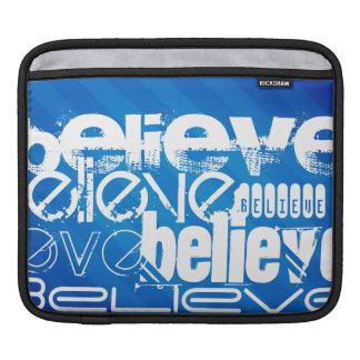 Believe; Royal Blue Stripes iPad Sleeve
