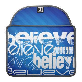 Believe; Royal Blue Stripes MacBook Pro Sleeve