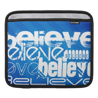 Believe; Royal Blue Stripes Sleeve For iPads