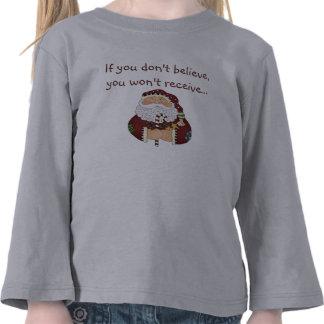 Believe Santa Christmas Toddler Long Sleeve Shirt