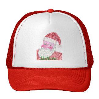 Believe Santa Claus Pointillism Hat
