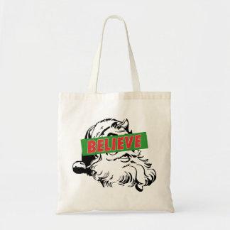 Believe Santa Claus Tote Bag