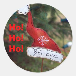Believe Santa Hat Stickers