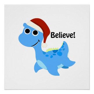 Believe! Santa Nessie Poster