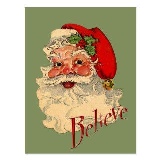 Believe Santa Postcard