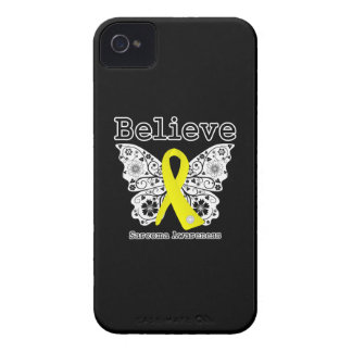 Believe - Sarcoma Cancer Butterfly iPhone 4 Case-Mate Cases