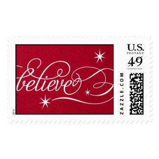 Believe Script - Geisha Postage Stamp