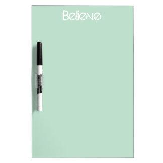 Believe - Sea Glass Edge Color Dry Erase Board