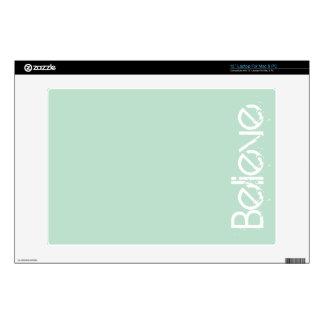Believe - Sea Glass Edge Color Laptop Skin