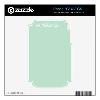 Believe - Sea Glass Edge Color Skin For iPhone 3GS