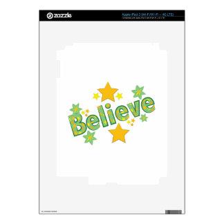 Believe iPad 3 Decals