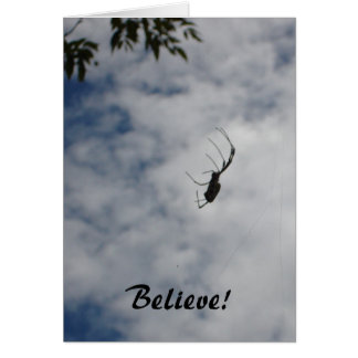 Believe! - spider notecard stationery note card