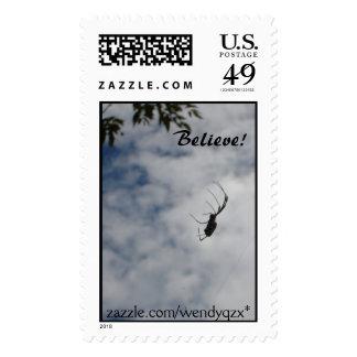 Believe! spider stamps