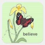 believe square sticker