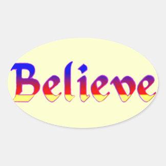 Believe_ Oval Sticker
