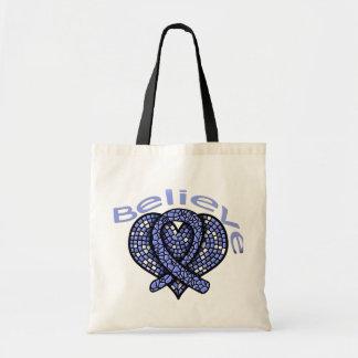 Believe Stomach Cancer Canvas Bag