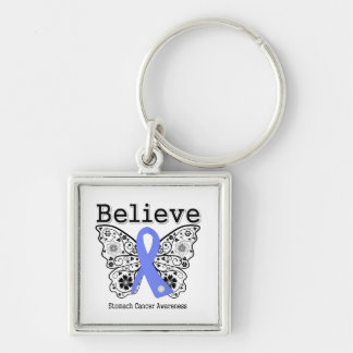 Believe - Stomach Cancer Butterfly Keychains