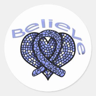 Believe Stomach Cancer Sticker