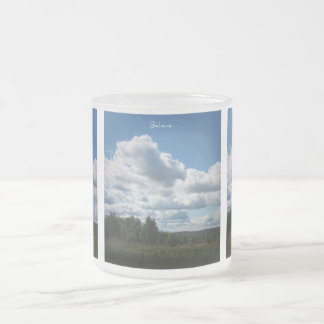 Believe, Summer Lanscape Frosted Glass Coffee Mug