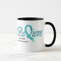 """Believe """"Teal Mug"""" Mug"""