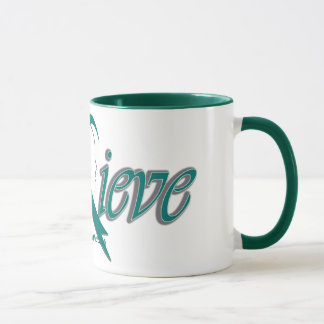 "Believe ""Teal/white"" Mug"