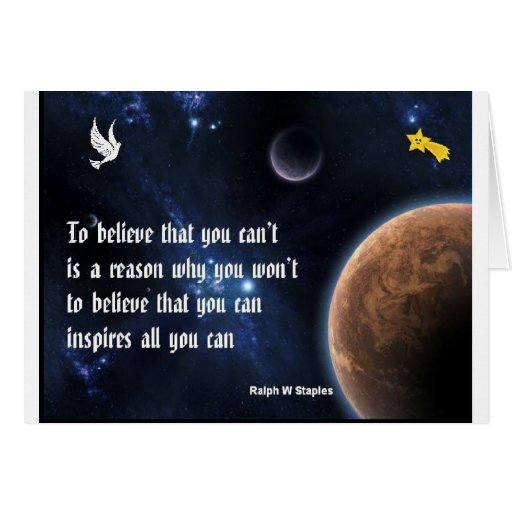 Believe that you can cards