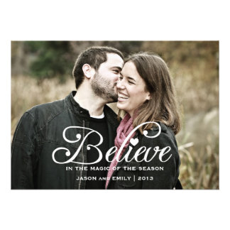BELIEVE   The Magic of Christma Holiday Photo Card