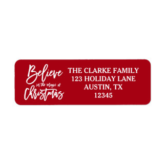 Believe | The Magic of Christmas Holiday Labels