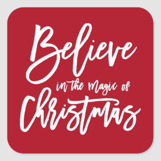 Believe | The Magic of Christmas Holiday Sticker