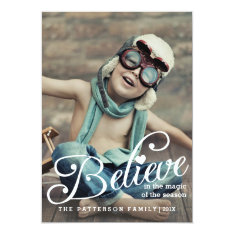 BELIEVE | The Magic of Christmas Photo Card at Zazzle