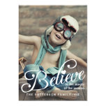 "BELIEVE | The Magic of Christmas Photo Card 5"" X 7"" Invitation Card"
