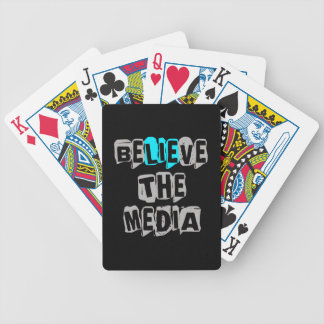 BeLIEve the Media Bicycle Playing Cards