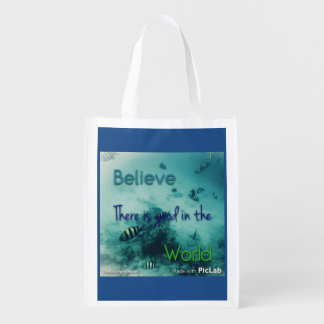 believe there is good in the world grocery bags