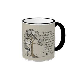 BELIEVE to LIVE Ringer Coffee Mug