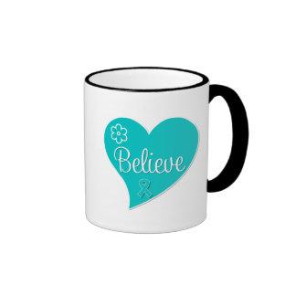 Believe Tourette Syndrome Awareness Ringer Coffee Mug